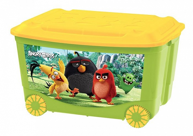 Angry Birds Movie Toy Storage Box on Wheels with Picture (431312909)
